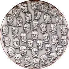 1976 AMERICAN BICENTENNIAL HUGE .999 SILVER MEDAL ~ 38 PRESIDENTS ~ KAREN WORTH