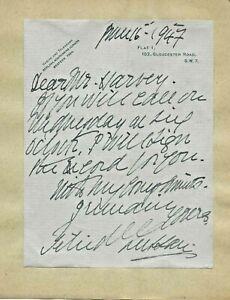 Zelia De LUSSAN - Autographed Letter and Memorabilia
