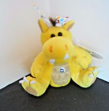 Peponi Fat Mini Dragon J.J. 4 Inch Long Yellow Stuffed Plush Dragon