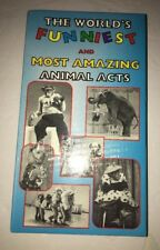 The Worlds Funniest and Most Amazing Animal Acts(VHS,1999)RARE VINTAGE-SHIPS N24