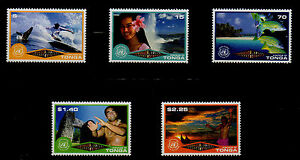 TONGA, SCOTT # 1061-1065, SET OF 5 ECOTOURISM, WHALE, SURFER, BEACH, FISH, MNH