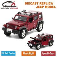 15Cm length Diecast Jeep Wrangler Model Cars, Replica Metal Toy Cars