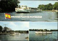 Postkarte PK AK Ansichtskarte gelaufen Weiße Flotte Potsdam Mehrbild 1984