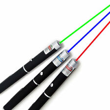 5mw High Power 3PCS Red+Green+Blue Purple Laser Pointer Pen Beam Light Lazer USA