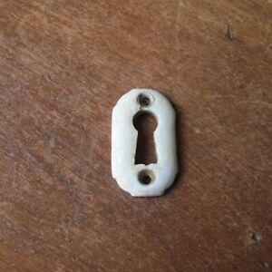 Antique Victorian White Porcelain Keyhole Cover