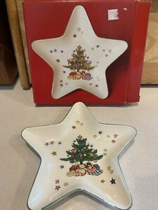 """NIKKO Christmastime Star Treat Candy Dish 6""""  with box"""