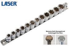 laser 13 pièce métrique 1cm SQ DR 6PT Hex endommagé BOULON prise 8mm-19mm