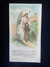 Ancienne image pieuse canivet ange de dieu jouet et brillard édit