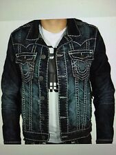 TRUE RELIGION JIMMY SUPER T MEN JEAN JACKET CPTD DRY BRUSH MR62NTW9 NWT 3XL $369