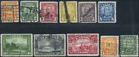 Canada #149-157,160,161 used F/VF 1928-1929 King George V Scroll Issue Part Set