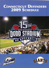 2009 CONNECTICUT DEFENDERS MINOR LEAGUE BASEBALL POCKET SCHEDULE