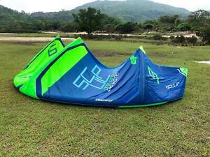 Used 2018 CrazyFly Sculp 9M Green Kite Kitesurfing with Sick bar Kiteboarding