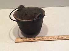 Vintage mini cast iron kettle/cauldron