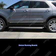 "Fits 2011-2017 Ford Explorer 72"" Deluxe Side Steps Nerf Bars Running Boards"