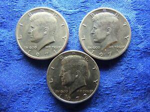 USA 1/2 DOLLAR 1971, 1971D, 1972 KM202b