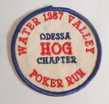 "Odessa Hog Chapter 1967 Poker Run Patch - Water Valley - Texas - 3"" x 3"""