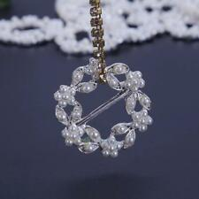 10pcs Alloy White Pearl Diamond Rhinestone Flower Buttons for DIY Accessories