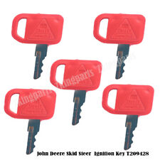 5PCS Ignition Key T209428 Fit John Deere Skid Steer and Compact Tracked Loader