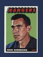 1965-66 Topps DON SIMMONS #88 Nrmt+ NY RANGERS *SHARP* !!