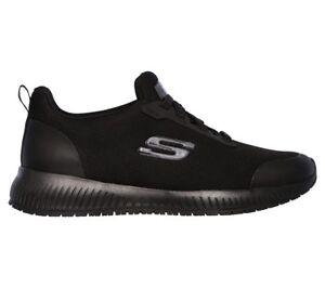 Skechers for Work 77222 Women's Squad SR Shoe Black A2