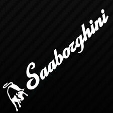 SAAB SAABORGHINI CAR VAN WINDOW BUMPER 93 EURO 95 DUB DRIFT VINYL DECAL STICKER