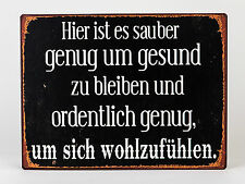 Blechschild Wandbild nostalgisch mit Spruch 35 X 26cm Von Formano Art. 604323