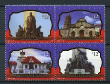 Philippines 2017 MNH Independence Day Monuments 4v Block Architecture Stamps