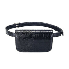 Alligator PU Leather Waist Belt Bag Fanny Pack for Sanitizer Pandemic Protection