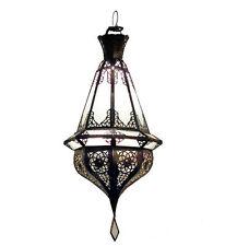 Orientalische Laterne Arabische Lampe Hängeleuchte Deckenlampe SAMAKA Milchglas