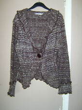 M&Co size XL chocolate mix cardigan