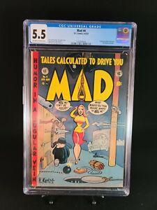 MAD Magazine #4 ~ CGC 5.5 ~ EC COMICS 1953 ~ SUPERMAN & ROBIN HOOD PARODIES
