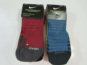 Nike Dri Fit Mens No Show 3 Pack Socks 8-12 Nwt