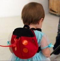 Baby Kid Toddler Walk Safety Harness lady beetle Backpack Bag Walking Rein Strap