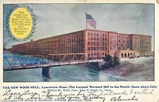 1906 The New Wood Mill, Lawrence, Massachusetts Postcard