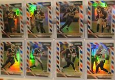 2018 Panini Prizm New Orleans Saints Red White & Blue Refractor 8 Card Lot