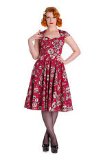 Hell Bunny Sasha Dress Skull Love Vintage Retro Punk Pinup 50s Party Plus Size
