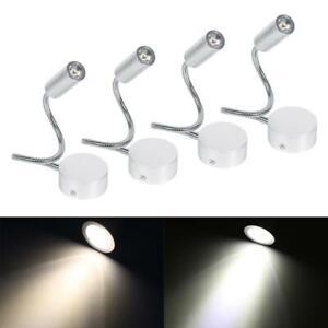 1W/3W Flexible Gooseneck LED Reading Light Beside Bed Table Lamp Book Light