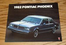 Original 1982 Pontiac Phoenix Sales Brochure 82
