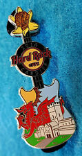 CARDIFF CASTLE WALES ST DAVID'S DAY RED WELSH DRAGON GUITAR Hard Rock Cafe PIN