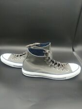 Converse Fresh Hi All Stars Grey White Leather Black Sneakers Mens Size 13