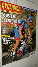 CYCLISME INTERNATIONAL 1998 CALENDRIERS EQUIPES VIRENQUE ARMSTRONG CROSS VELO