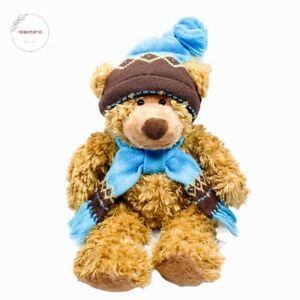 """Mary Meyer OLIVER St. Jude's Plush Teddy Bear 16"""" Stuffed Animal Scarf And Hat"""