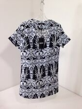 MISSGUIDED WOMEN'S PLUNGE BOXY SHIFT DRESS FLORAL BLACK/WHT/SKY UK:8/US:4 NWT