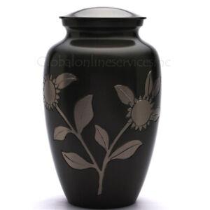 Adulto Funeral Homenaje Urnas Cenizas GB - Girasol Incineración Latón
