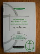 Alexander McCall Smith Unbearable Lightness of Scones Galley SIGNED
