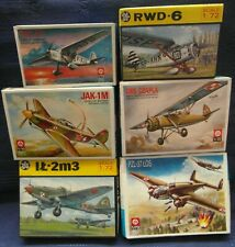 ZTS - LOTE DE 6 AVIONES WW2 RUSOS Y POLACOS 1/72