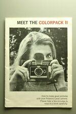 VINTAGE MANUAL: POLAROID Meet the COLORPACK II (M55)