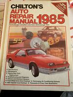 Chilton's Auto Repair Manual 1985 for Domestic & Canadian Cars 1978 to 1985