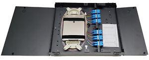24 Fiber Wall Mount w/ 12 SC/UPC Duplex Adapters, SM Pigtails & Two Splice Trays