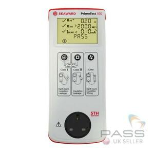 Seaward Primetest 100 PAT Tester 5th Edition with Free 12 Month Calibration / UK